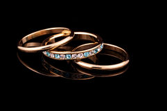 Rings. Photo of Wedding Bands Stock Image