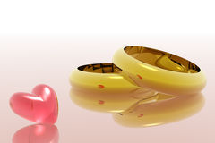 Rings. Illustration of rings Royalty Free Stock Photo