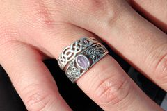 Rings. On fingers Royalty Free Stock Images