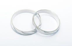 Rings. Platonic rings against white background Stock Images