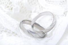 Rings. Platina rings Royalty Free Stock Photos