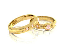 Rings. Background pucture of golden rings Royalty Free Stock Image