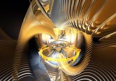 Rings&wires oranges dans l'espace (abstrait) Photographie stock