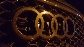 4 rings Audi. Audi rings car Stock Photos