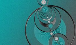 Rings Background. Generated with fractal. Rings and circles Royalty Free Stock Photography
