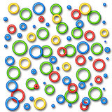 Rings and beads illustration Stock Photo