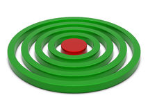 Rings chart green-red Royalty Free Stock Photos