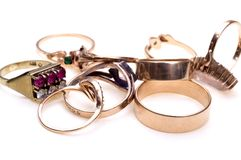 Rings close-up Stock Photography