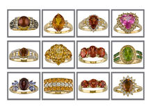 Rings collection Royalty Free Stock Image