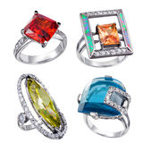 Rings  collections Stock Image