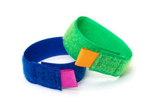 Rings from Colorful Velcro Strips Royalty Free Stock Image