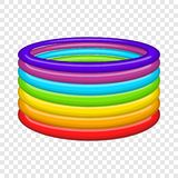 Rings in colours of LGBT icon, cartoon style. Rings in colours of LGBT icon in cartoon style isolated on background for any web design stock illustration