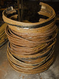 Rings of copper from old transformer Royalty Free Stock Photo