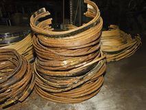 Rings of copper from old transformer Stock Photography