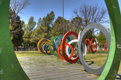 Rings in Cordoba, Argentina. Rings in a park in Cordoba, Argentina Royalty Free Stock Photos