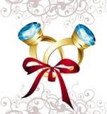 Rings with diamondands. Ring brilliant carat engagement jewelry diamond royalty free illustration