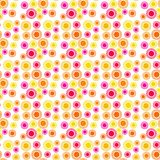 Rings and Dots Seamless Pattern Royalty Free Stock Photography