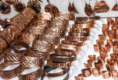 Rings, earrings and pendents. souvenirs in Bosnia an Stock Photos