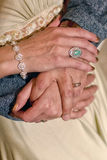 Rings on Fingers: Man and Woman Royalty Free Stock Photography