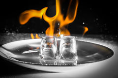Rings on fire Stock Image