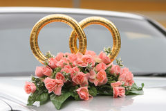 Rings and flowers Royalty Free Stock Images