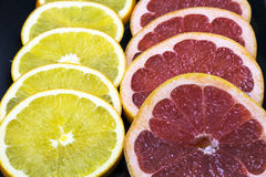 Rings of fresh grapefruit Royalty Free Stock Photo