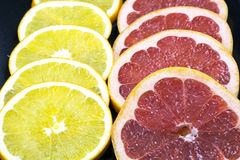 Rings of fresh grapefruit Royalty Free Stock Photos
