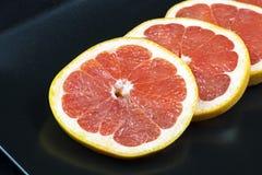 Rings of fresh grapefruit Stock Photo