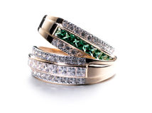 Rings with gems Stock Photos