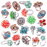 Rings with gems Royalty Free Stock Images