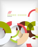 Rings geometric shapes abstract background. This is file of EPS10 format stock illustration