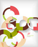 Rings geometric shapes abstract background. This is file of EPS10 format royalty free illustration