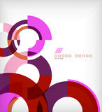Rings geometric shapes abstract background Royalty Free Stock Photography
