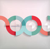 Rings geometric shapes abstract background Stock Photography
