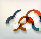 Rings geometric shapes abstract background Stock Photo