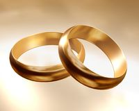 Rings gold Royalty Free Stock Images