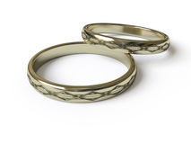 Rings. Gold collection - push here Stock Image