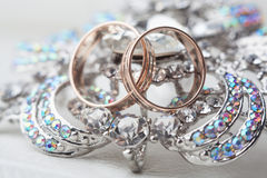 Rings gold and jewelry Stock Photography
