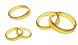 Rings gold ring illustration Royalty Free Stock Images