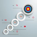 Rings Growth Target 5 Options Infographic Stock Photography