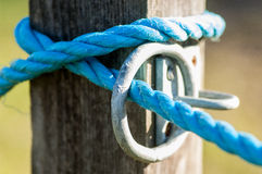 Rings, hasps and rope Royalty Free Stock Photography