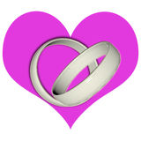 Rings in the heart Royalty Free Stock Photos