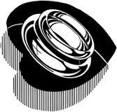 Rings In Heart Shape Stock Image