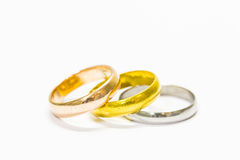 Rings. Isolated on white background Stock Images