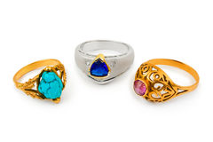 Rings and jewelry Stock Photography