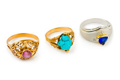Rings and jewelry Stock Photos