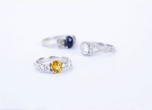 Rings Jewelry is popular with the girls. A symbol of love And th Royalty Free Stock Photos