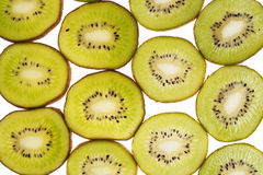 Rings kiwi on white Royalty Free Stock Photo