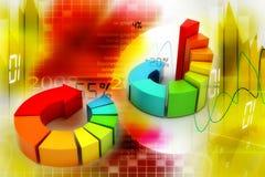 Rings kleurrijke bedrijfsgrafiek Stock Afbeeldingen