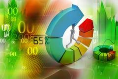 rings kleurrijke bedrijfsgrafiek Royalty-vrije Stock Afbeeldingen